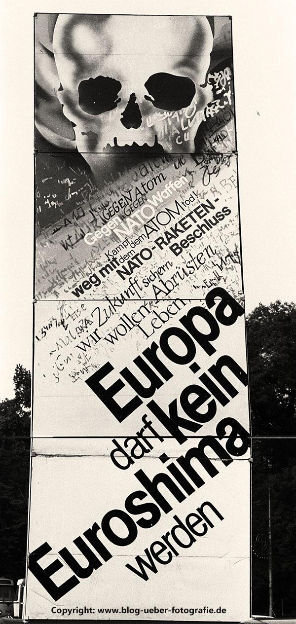 Denkmal gegen (Atom) Krieg in Dresden 1985