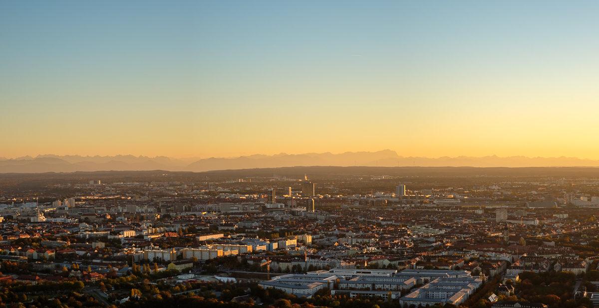München Panorama vom Fensehturm