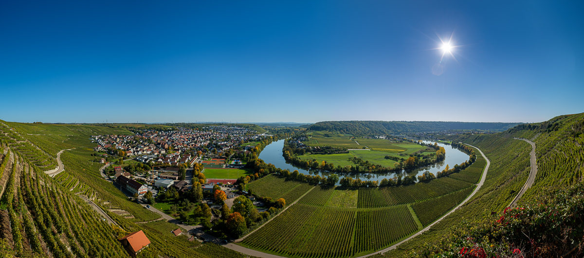 Neckarschleife bei Mundelsheim am Neckar