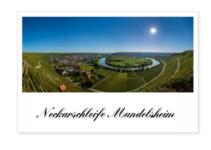Poster Landschaftsfoto Neckarschleife